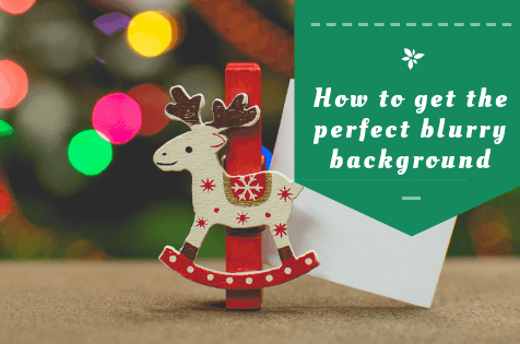 How to make fabulous Christmas blurry background