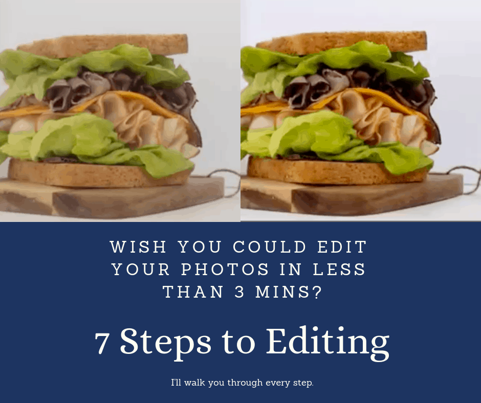 7 Steps to editing before and after