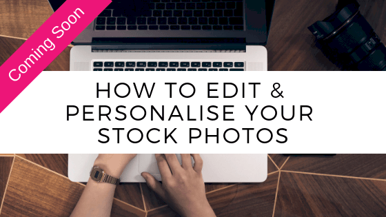 How to edit & personalise your stock photos