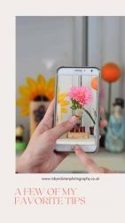 hand phone camera flower photo